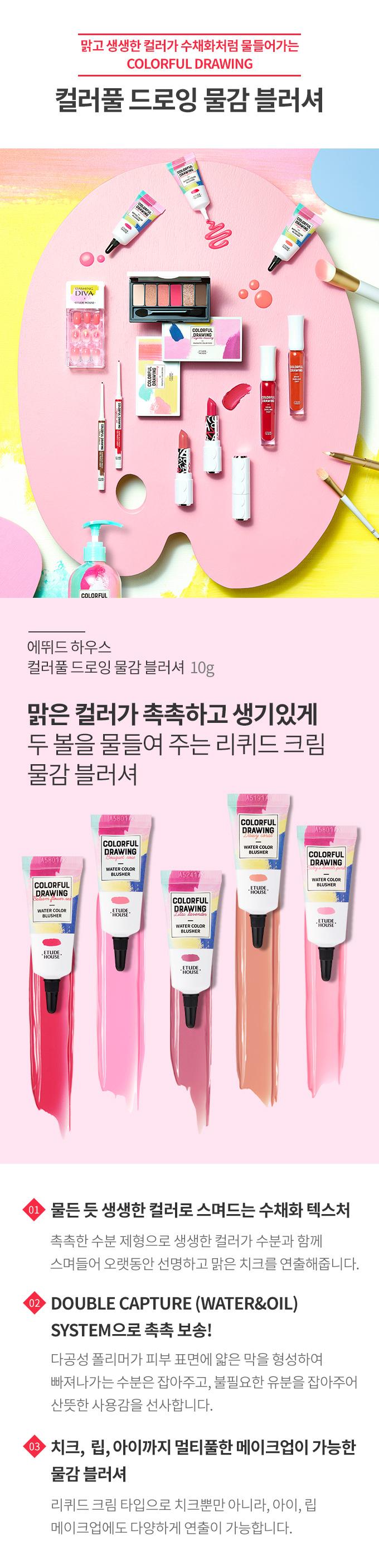 ETUDE HOUSE] Colorful drawing paint blusher / Korean Cosmetics   eBay