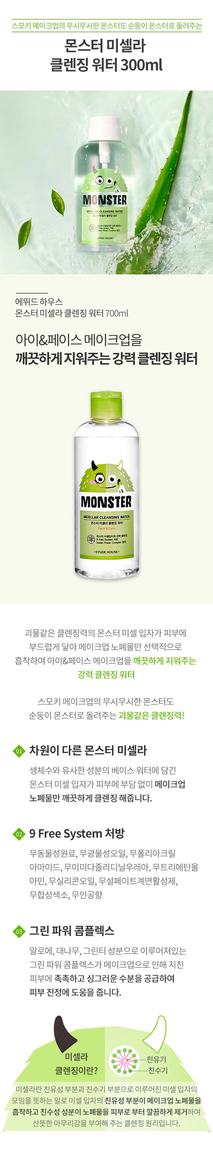 [ETUDE HOUSE] MONSTER MICELLAR CLEANSING WATER